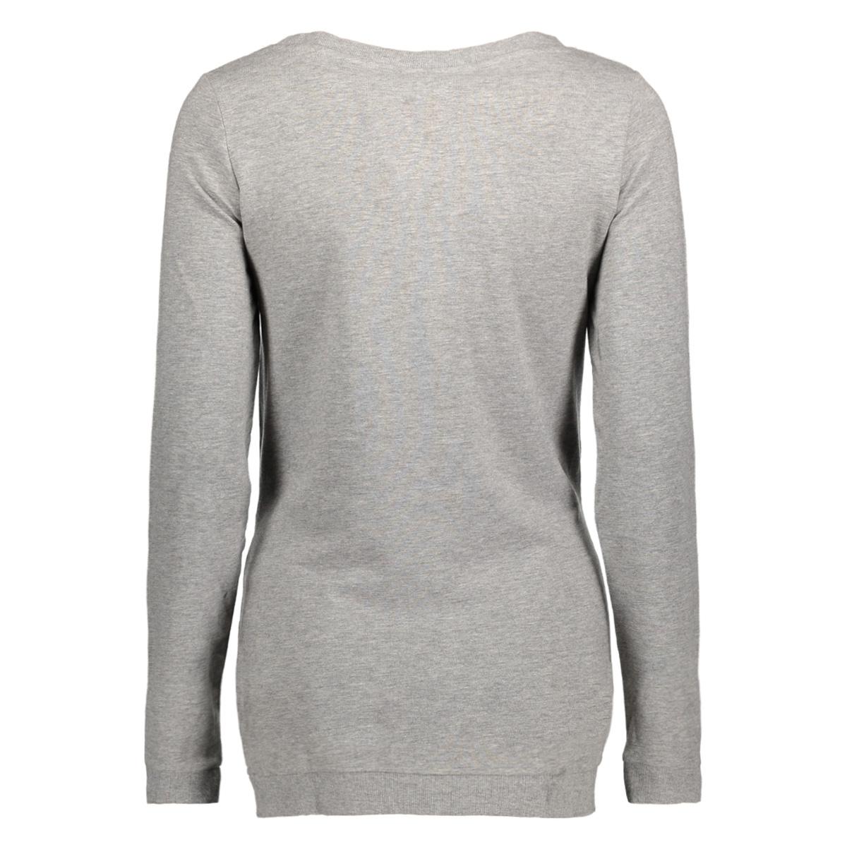 mlsign l/s sweat top a 20007554 mama-licious positie trui light grey mela/white fron
