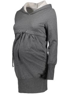 Mama-Licious Positie jurk MLKARLA L/S LONG SWEAT 20007757 Medium Grey Melange