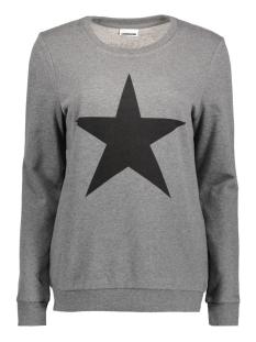 Noisy may Sweater NMNASHVILLE L/S SWEAT 6 10186131 Medium Grey Melange/ Black