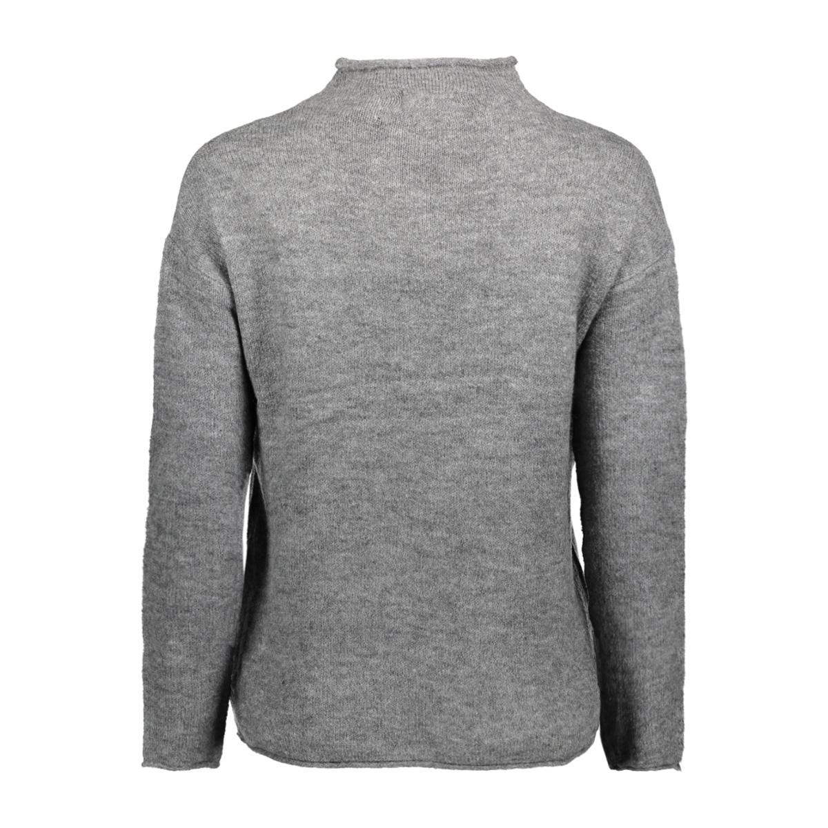 jdyalice l/s pullover knt 15137104 jacqueline de yong trui dark grey melange