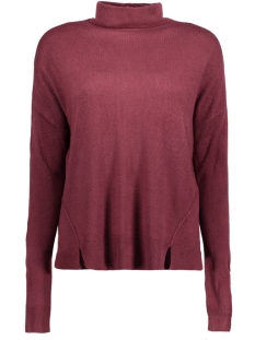 Noisy may Trui NMCHEN L/S HIGH NECK KNIT 4B 10177564 Zinfandel