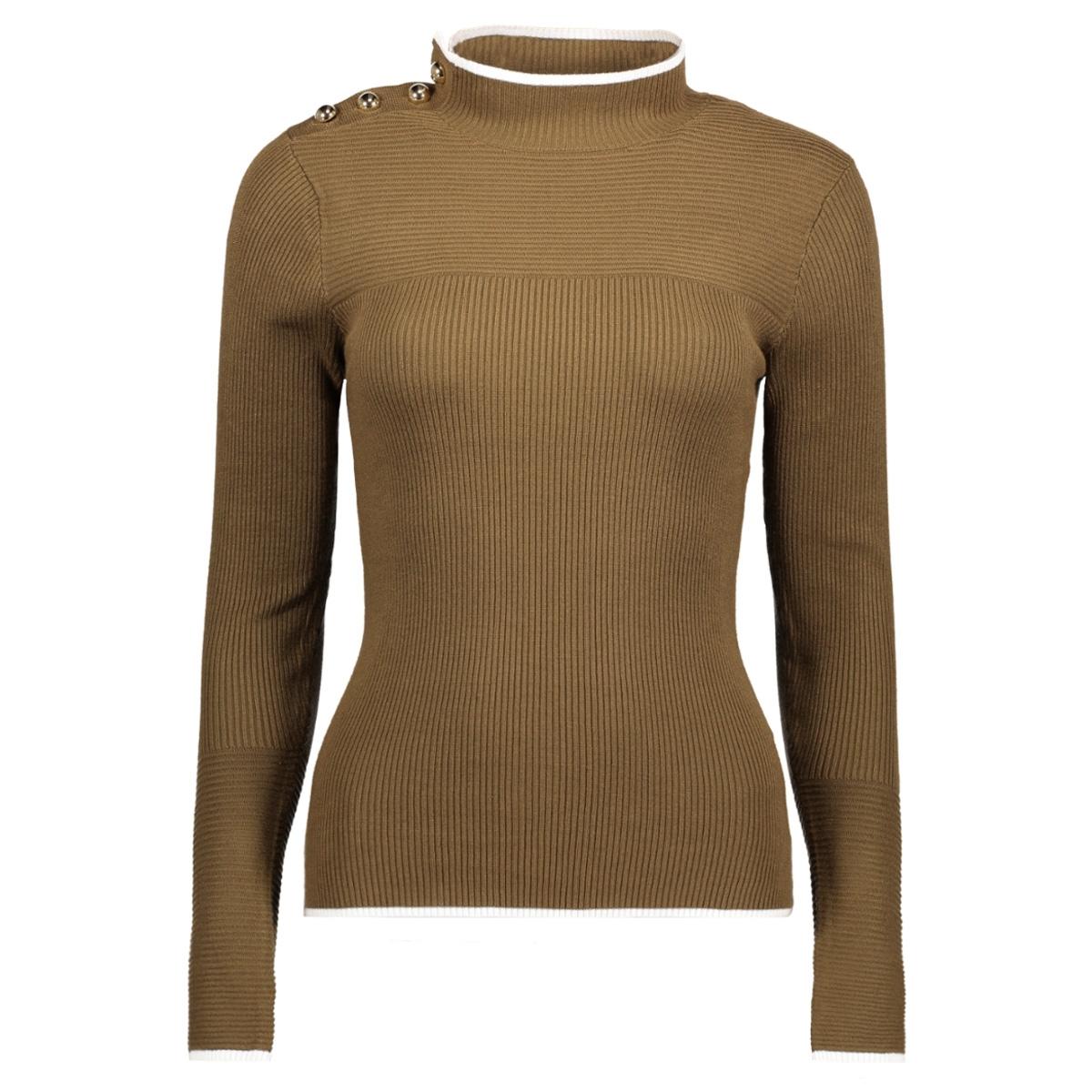 vmadelanto ls highneck blouse a 10180833 vero moda trui dark olive/ snow white