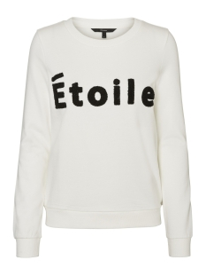 Vero Moda Sweater VMTOWEL L/S SWEAT D2-7 10187089 Snow White/Black