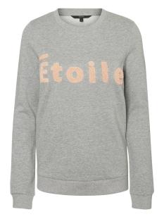 Vero Moda Sweater VMTOWEL L/S SWEAT D2-7 10187089 Light Grey Melange/Rose Cloud