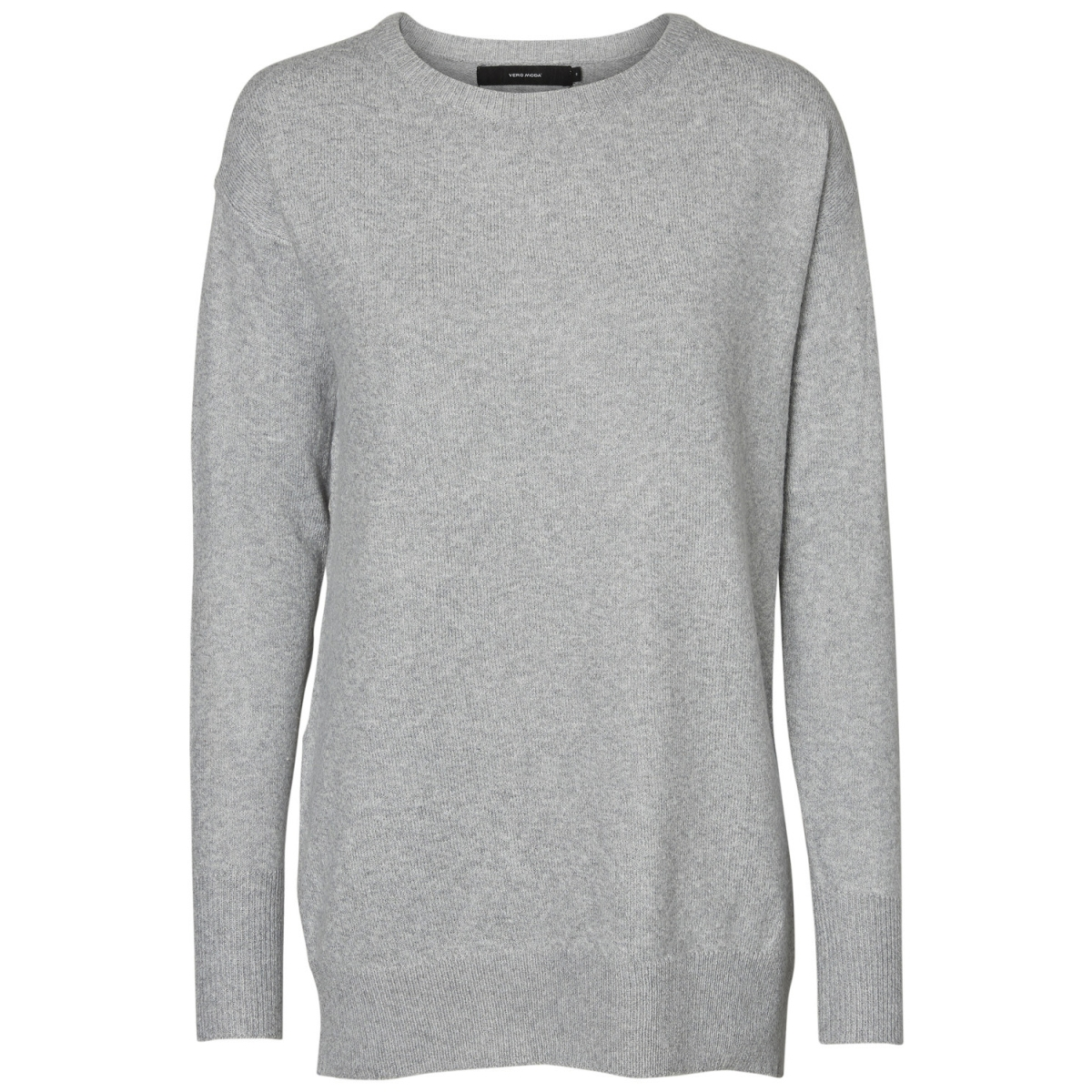 vmcolma brilliant ls oversize blous 10183848 vero moda trui light grey melange