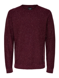 Only & Sons Trui onsDIAN NAPS CREW NECK KNIT NOOS 22003869 Fudge