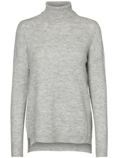 Noisy may Trui NMMILES L/S ROLL NECK KNIT 5 10180495 Light Grey Melange