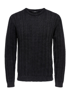 Only & Sons Trui onsHUGO WASHED KNIT 22007438 Black