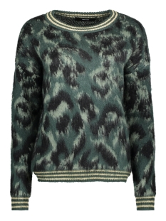 Vero Moda Trui VMSOPHIA LS O-NECK BLOUSE 10185493 Green Gables/Black