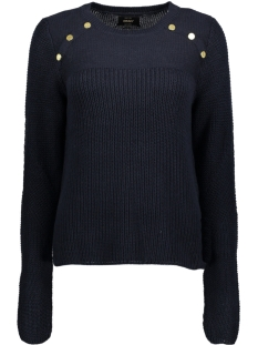 Only Trui onlKLARA L/S BUTTON PULLOVER KNT 15140179 Sky Captain/W. GOLD BU