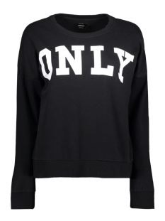 Only Sweater onlBETTE LOGO LS SWT 15145063 Black/WHITE