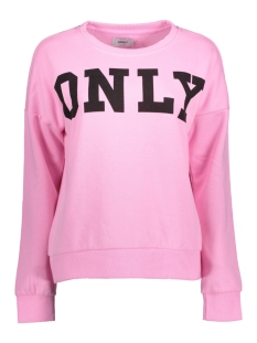 Only Sweater onlBETTE LOGO LS SWT 15145063 Begonia Pink/BLACK