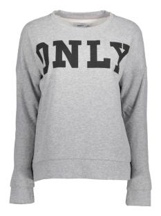 Only Sweater onlBETTE LOGO LS SWT 15145063 Light Grey Mela/BLACK