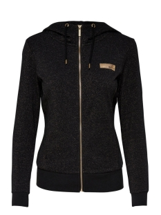 Only Play Sport vest onpGOLD GLITTER ZIP HOOD SWEAT 15135101 Black/GOLD