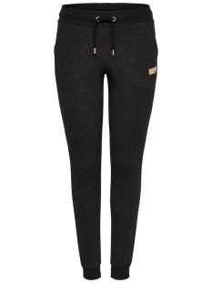 Only Play Sport broek onpGOLD GLITTER SLIM SWEAT PANTS 15135094 Black/Gold