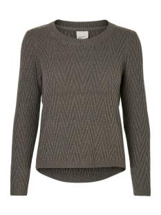 vmposh ls blouse noos 10157984 vero moda trui dark grey melange