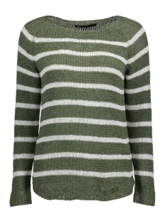 Only Trui onlTAPPY L/S STRIPE PULLOVER CC KNT 15137444 Agave Green/W CLOUD DA
