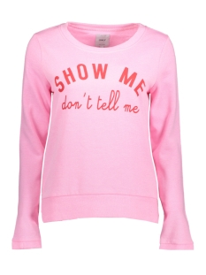 Only Sweater onlSOUND L/S O-NECK SWT 15144244 Prism Pink/Show Me Do
