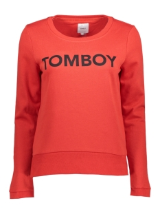 Only Sweater onlSOUND L/S O-NECK SWT 15144244 Flame Scarlet/TOMBOY