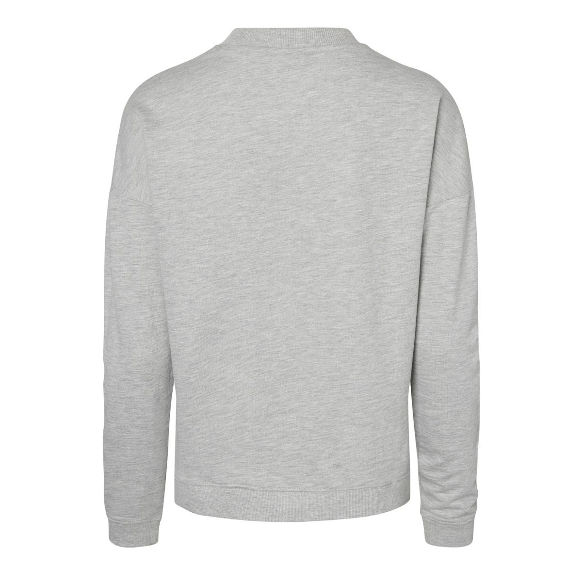 nmlucky l/s sweat noos 27000497 noisy may sweater light grey melange