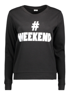 Jacqueline de Yong Sweater JDYMILLY L/S PRINT SWEAT SWT RPT 15133660 Black/WEEKEND