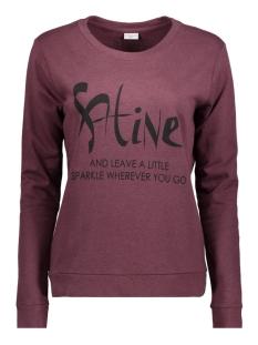 Jacqueline de Yong Sweater JDYMILLY L/S PRINT SWEAT SWT RPT 15133660 Vineyard Wine/ Shine
