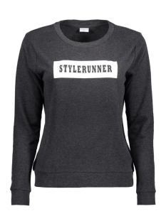 Jacqueline de Yong Sweater JDYMILLY L/S PRINT SWEAT SWT RPT 15133660 Dark Grey Melange/ Stylerunner