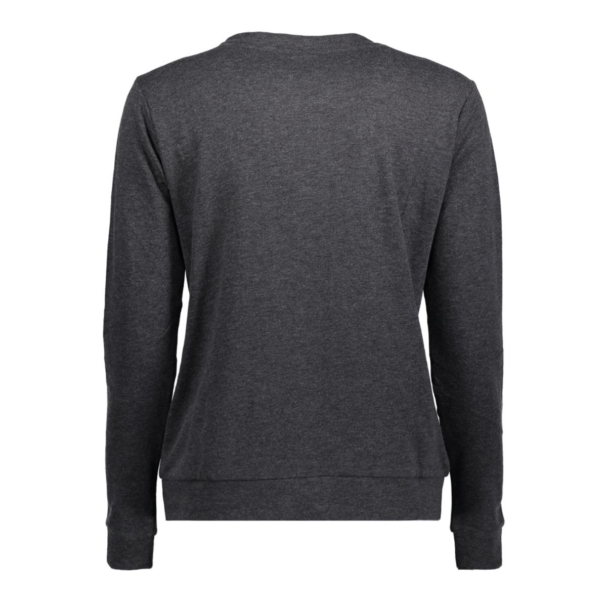 jdymilly l/s print sweat swt rpt 15133660 jacqueline de yong sweater dark grey melange/ stylerunner