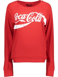 Only Sweater onlCOCA COLA SWEAT 15151706 Racing Red/WHITE