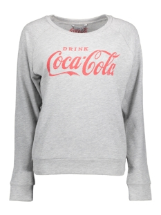 Only Sweater onlCOCA COLA SWEAT 15151706 Light Grey Mela/RACING RED