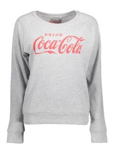 Only Sweater onlCOCA COLA SWEAT 15151706 Light Grey Mela/RACING RED