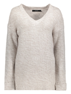 Vero Moda Trui VMNO NAME TURN UP DEEP V-NECK BLOUS 10186786 Ash/w.Snow wh
