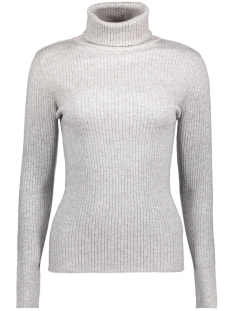 Vero Moda Trui VMHERMOSA LS ROLLNECK BLOUSE 10182177 Light Grey Melange