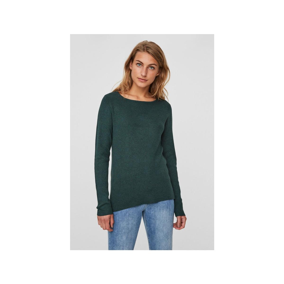 vmglory fullneedle ls blouse noos 10179997 vero moda trui green gables/melange