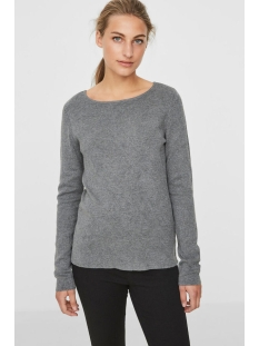 vmglory fullneedle ls blouse noos 10179997 vero moda trui medium grey melange