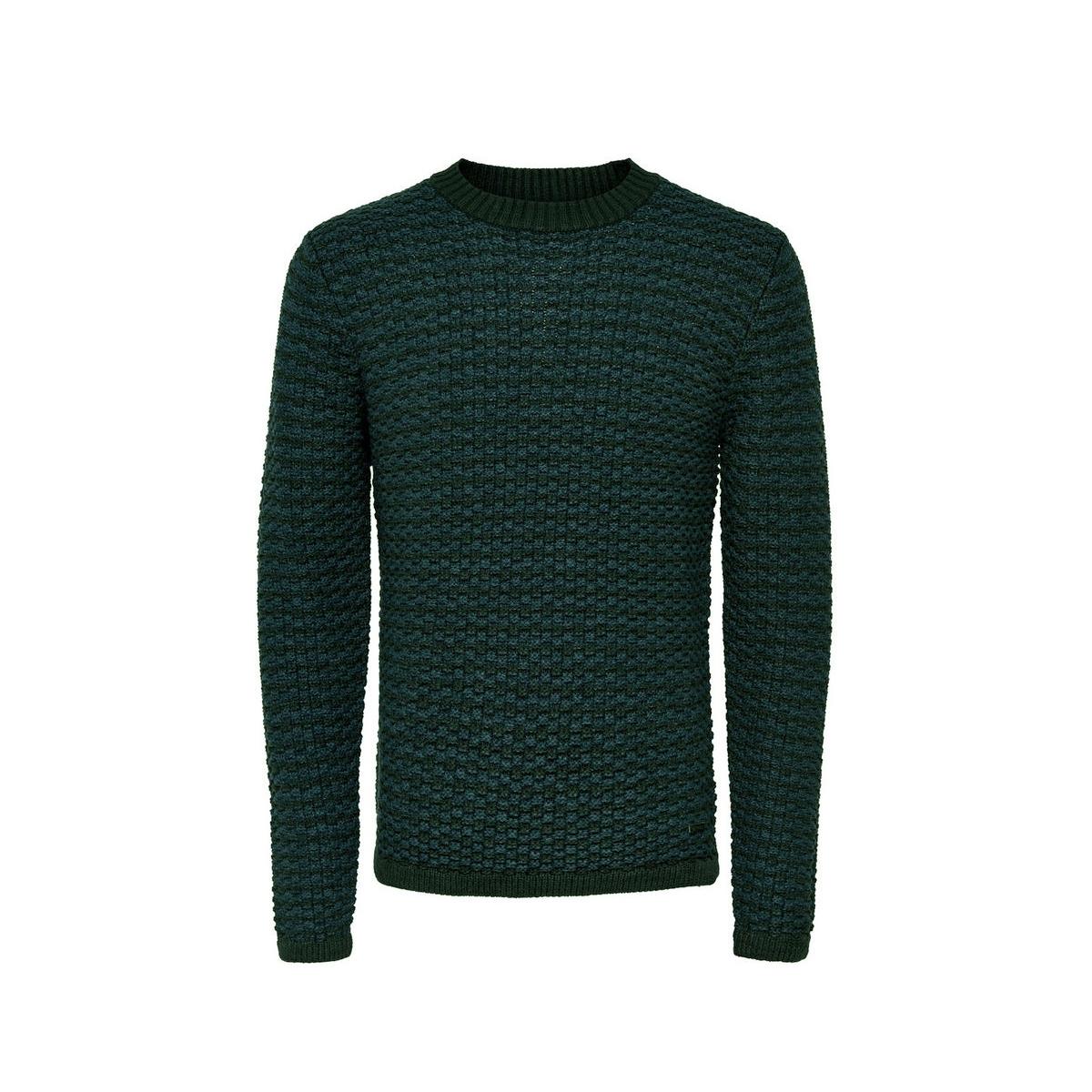 onsdoc crew neck knit noos 22004485 only & sons trui darkest spruce