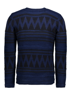 onsdudley crew neck knit 22004107 only & sons trui dark navy