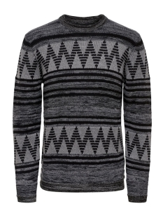 Only & Sons Trui onsDUDLEY CREW NECK KNIT 22004107 Medium Grey Melange