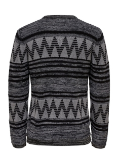 onsdudley crew neck knit 22004107 only & sons trui medium grey melange