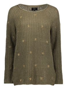 Only Trui onlCATHRINE L/S LONG PULLOVER KNT 15140050 Tarmac/W Pale Gol