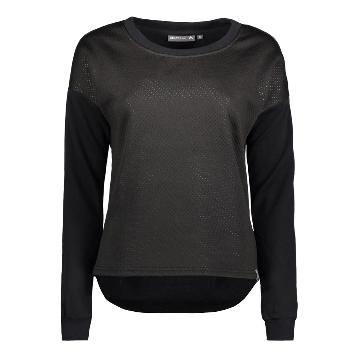 onpmeta brushed sweat 15135078 only play sport trui black