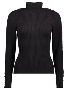 Only Trui onlTYRA L/S BUTTON PULLOVER KNT 15140070 Black