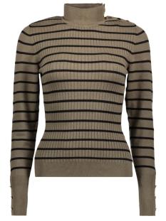 onltyra l/s button pullover knt 15140070 only trui tarmac/ w black