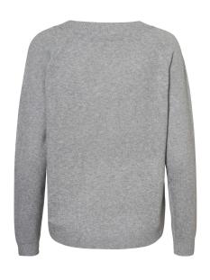 vmbrilliant ls v-neck blouse boo 10179488 vero moda trui light grey melange/ snow white
