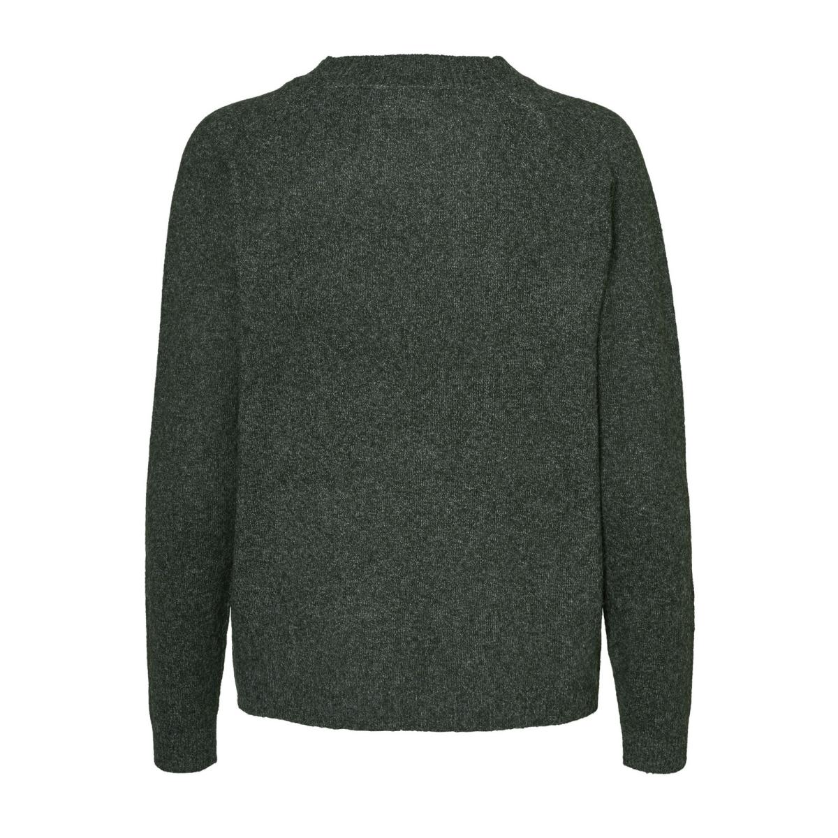 vmbrilliant ls v-neck blouse boo 10179488 vero moda trui green gables/ melange