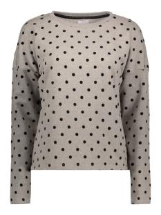 Only Sweater onlDOT L/S O-NECK SWT. 15145114 Light Grey Mela/Black Dots