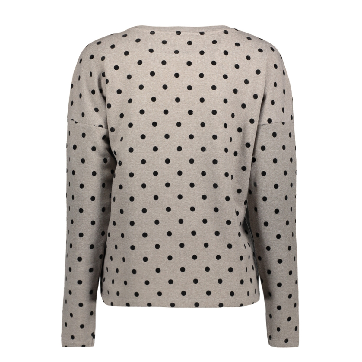 onldot l/s o-neck swt. 15145114 only sweater light grey mela/black dots