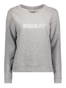 jdytori l/s sweat jrs rpt2 15142299 jacqueline de yong sweater light grey mela/wanderlust