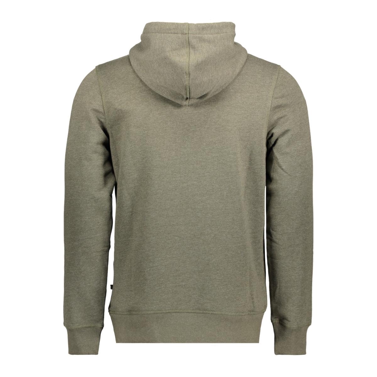 jorauthentic sweat hood 12127801 jack & jones sweater forest night/slim melan