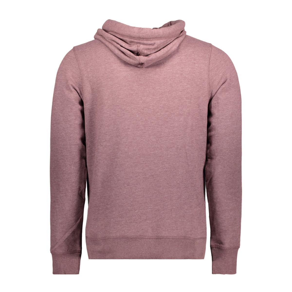 jorheritage sweat cross over hood 12127799 jack & jones sweater sassafras/ slim melan